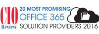 20 Most Promising Office  365 Solution Providers - 2016